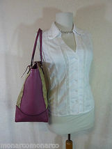 AUTH NWOT GUCCI Beige/Ebony/Dusty Rose Canvas/Leather Bree GG Tote image 3