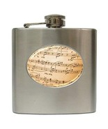 Music Notes 6 Oz Hip Flask Stainless Steel - $13.13