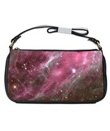 Pink Nebula Galaxy Universe Outer Space Shoulder Clutch Bag - $16.87