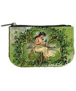 St Patricks Day Fairy 3 Leaf Clovers Womens Coin Bag Purse - $4.72