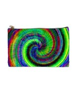 Hippy Tie-Dye Psychedelic 2 Sided Cosmetic Bag Medium Size - $8.46