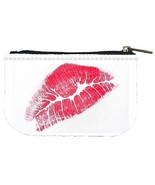 Red Lips Kiss Lipstick Womens Coin Bag Purse - $4.72