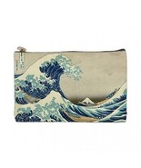 Katsushika Hokusai Great Wave off Kanagawa 2 Sided Cosmetic Bag Medium Size - $8.46