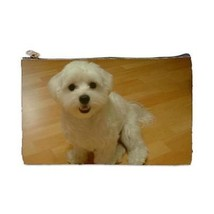 Maltese Puppy Dog 2 Sided Cosmetic Bag Medium Size - $8.46