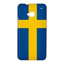 Sweden Swedish Flag Hardshell Case for HTC One M7 - $14.07