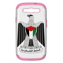Palestine Coat of Arms PC+Silicone Hardshell Pink Case for Samsung Galax... - $14.07