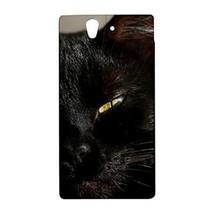 Black Cat Eye Face Hardshell Case for Sony Xperia Z L36H - $14.07