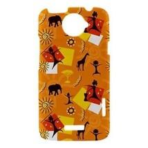 African Giraffe Elephant Tribal Pattern Hardshell Case for HTC One X - $14.07