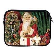 Christmas Santa Claus Dolls Tree Ornaments Zipper Case for ipad 2 ipad 3 ipad 4 - $15.00