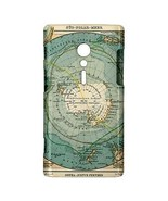 Antarctica South Pole Map Hardshell Case for Sony Xperia ion - $14.07