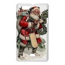 Santa Claus Christmas Presents Toys Wreath Hardshell Case for Sony Xperi... - $14.07