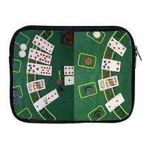Blackjack Table Casino Poker Cards Zipper Case for ipad 2 ipad 3 ipad 4 - $15.00