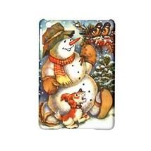 Christmas Snowman Puppy Dog Wreath Birds Hardshell Case for ipad Mini 2 - $16.87