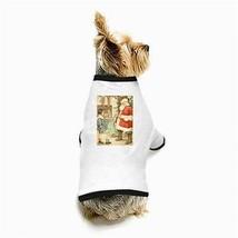 Merry Christmas Santa Claus Present Stockings White Puppy Dog T-Shirt - $11.26
