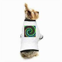 Hippy Tie-Dye Psychedelic White Puppy Dog T-Shirt - $11.26