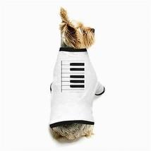 Piano Keys Keyboard White Puppy Dog T-Shirt - $11.26
