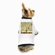 Gustav Klimt Tree of Life White Puppy Dog T-Shirt - $11.26