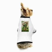 St Patricks Day Souvenir Harp 3 Leaf Clover White Puppy Dog T-Shirt - $11.26