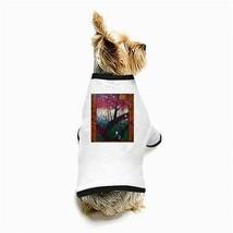 Van Gogh Blooming Plumtree White Puppy Dog T-Shirt - $11.26