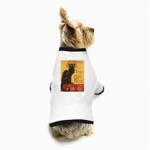 Le Chat Noir Black Cat White Puppy Dog T-Shirt - $11.26