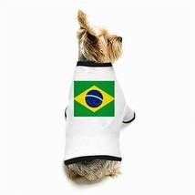 Brazil Brazilian Flag White Puppy Dog T-Shirt - $11.26