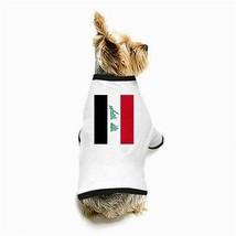 Iraq Iraqi Flag White Puppy Dog T-Shirt - $11.26