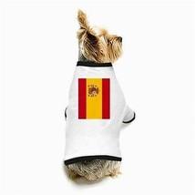 Spain Spanish Flag White Puppy Dog T-Shirt - $11.26