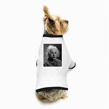 Albert Einstein E=MC2 White Puppy Dog T-Shirt - $11.26