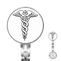 Medical Symbol Womans Stainless Steel Nurse Watch - $11.26