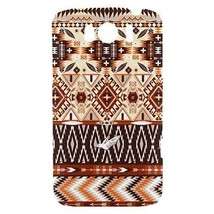 Aztec Geometric Feathers Tribal Pattern Hardshell Case for HTC Sensation XL - $14.07
