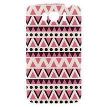 Vector Pink Black White Tribal Pattern Hardshell Case for HTC Sensation XL - $14.07