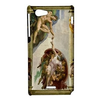 Michelangelo Creation of Adam Hardshell Case for Sony Xperia J