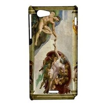 Michelangelo Creation of Adam Hardshell Case for Sony Xperia J - $14.07