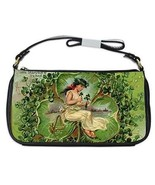St Patricks Day Fairy 3 Leaf Clover Shoulder Clutch Bag - $16.87