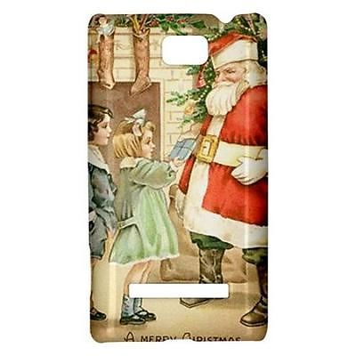 A Merry Christmas Santa Claus Stockings Hardshell Case for HTC Windows Phone 8s