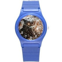 Doradus Nebula Galaxy Universe Outer Space Round Blue Plastic Sport Watch - $8.46