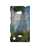 Claude Monet Woman With a Parasol Hardshell Case for Nokia Lumia 720 - $14.07