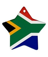 South Africa South African Flag Star Shaped Porcelain Christmas Ornament - $4.72