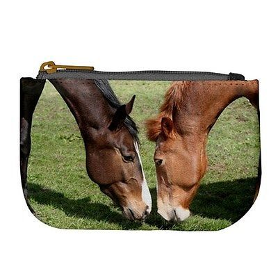 Grazing Horses Coin Bag Purse