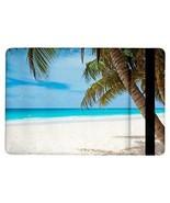 Tropical Island Paradise Beach Sand Blue Ocean Palm Trees Flip Case for ... - $17.81