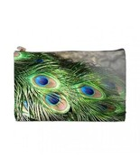 Peacock Feathers 2 Sided Cosmetic Bag Medium Size - $8.46