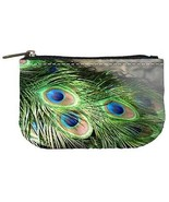 Peacock Feathers Womens Coin Bag Purse - $4.72