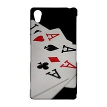 Four of a Kind Aces Casino Poker Cards Hardshell Case for Sony Xperia Z2 - $14.07