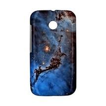 Blue Space Dust Nebula Galaxy Universe Hardshell Case for Motorola Moto E - $14.07