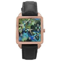 Edgar Degas Blue Dancers Rose Gold Leather Watch - $11.26