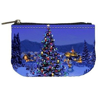 Christmas Tree at Night Coin Bag Purse
