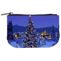 Christmas Tree at Night Coin Bag Purse - $4.72