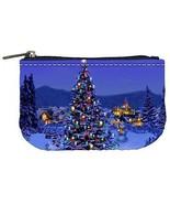 Christmas Tree at Night Coin Bag Purse - $4.72