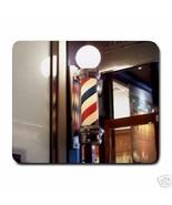 Barber Pole Hair Cut Mousepad - $6.59
