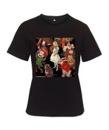 Alice in Wonderland Womens Black T-Shirt S,M,L,XL,2XL - $14.07